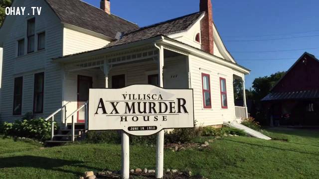 Ngôi nhà ma ám thứ nhất là The Villisca Axe Murder,kinh dị,ma quỷ,nhà bị ma ám
