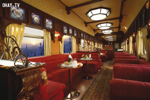 5, Tại Nga: Chuyến tàu Trans-Siberian Express,tàu hỏa cao cấp,tàu du lịch,du lịch bằng tàu hỏa,tàu hỏa sang trọng