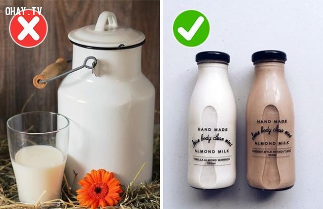 5. Sữa tươi,thực phẩm,sử dụng sai cách