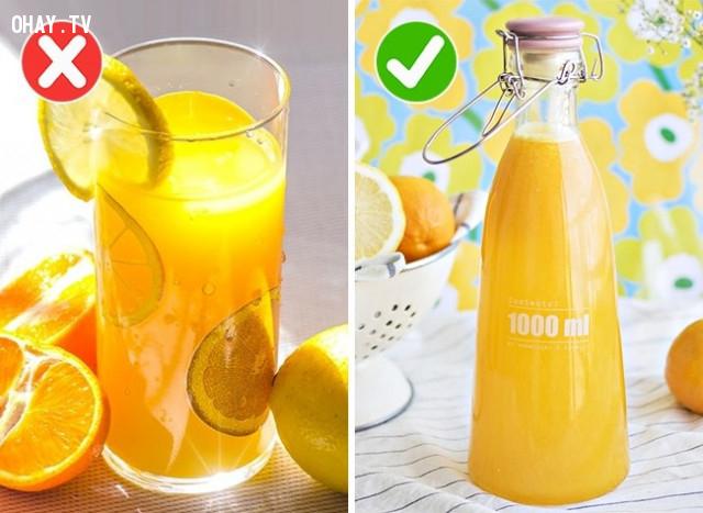 2. Nước ép hoa quả tươi,thực phẩm,sử dụng sai cách