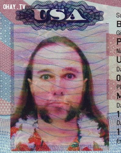 Tấm hộ chiếu Mỹ độc nhất từ trước tới nay,chứng minh nhân dân,tên chứng minh hài hước