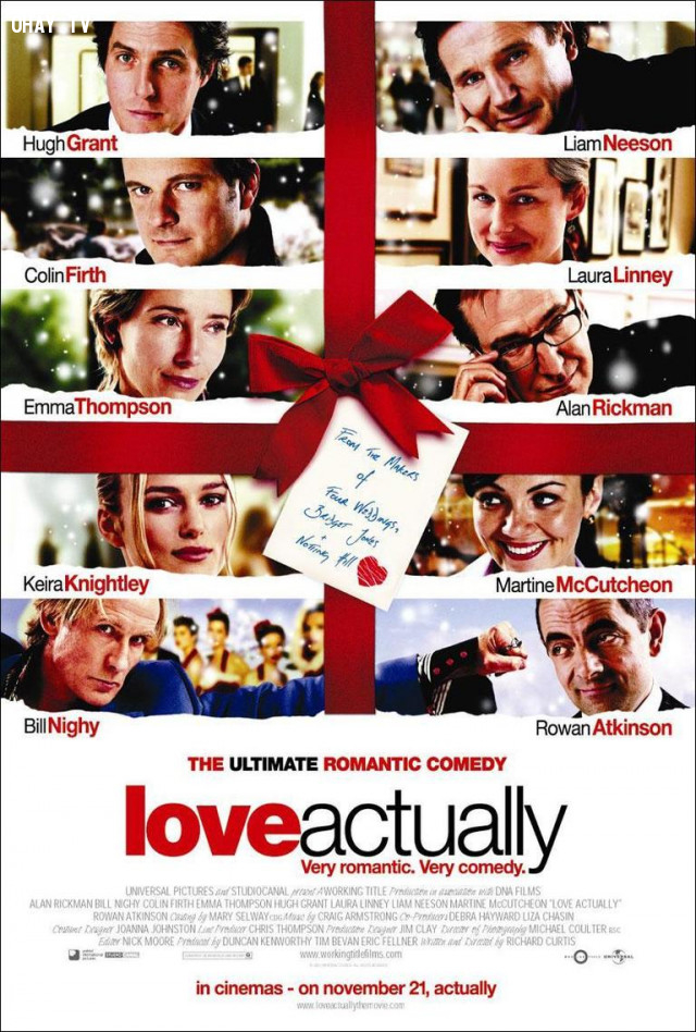 Love Actually (2003),phim hay,phim lãng mạn,bài học rút ra từ phim ảnh
