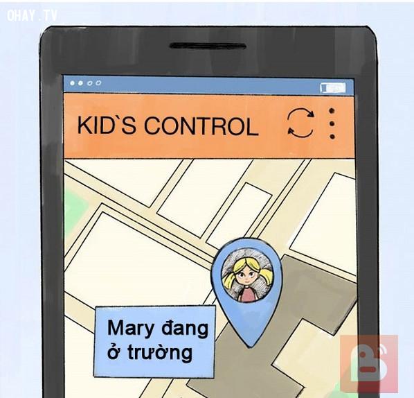 Cài đặt ứng dụng theo dõi,bắt cóc trẻ em,cách dạy con,nuôi dạy con cái,kỹ năng tự vệ cho trẻ em