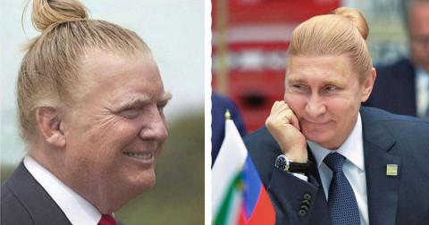 Khi các nhân vật quyền lực nhất thế giới để kiểu tóc Man Bun