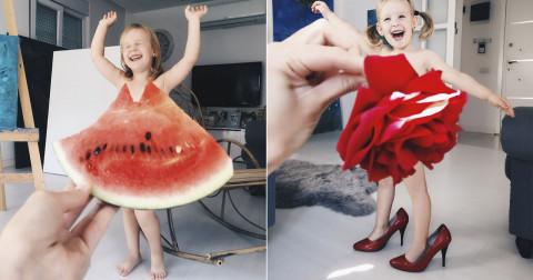 Những bức ảnh sáng tạo của mẹ và con gái