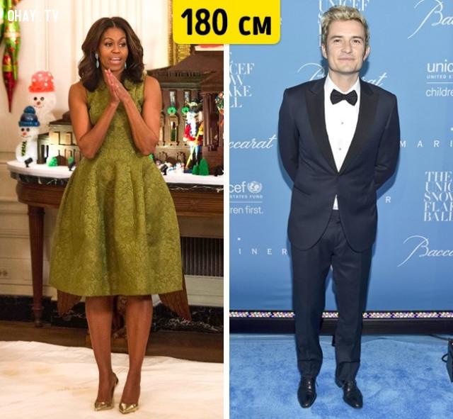 Michelle Obama và Orlando Bloom,