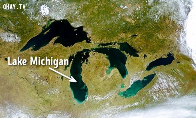 Hồ Michigan, Mỹ,vẻ đẹp chết người,vùng nguy hiểm