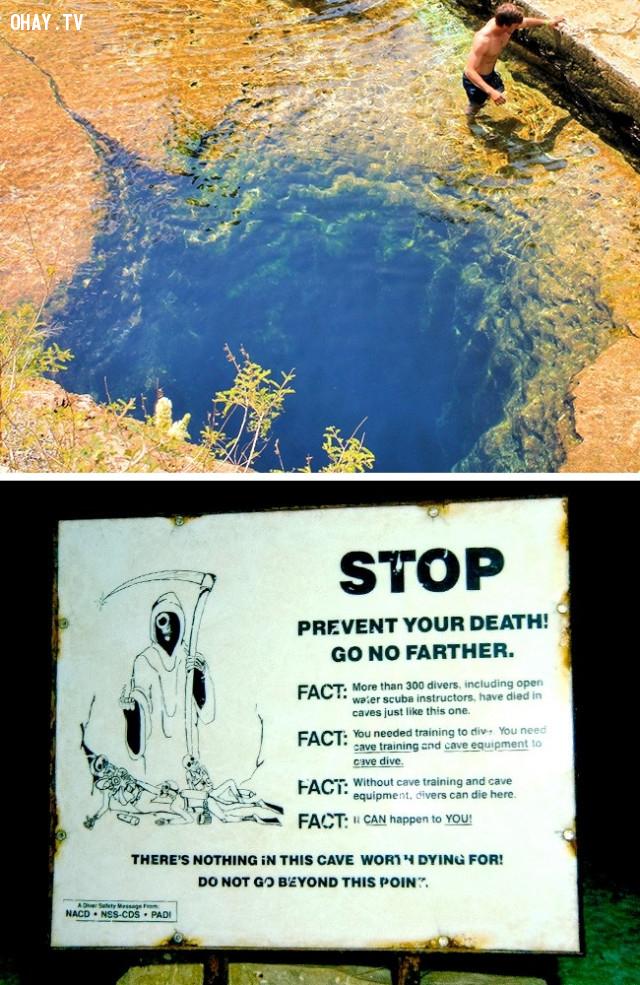 Jacob's Well, Texas, Mỹ,vẻ đẹp chết người,vùng nguy hiểm