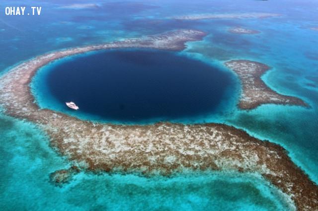 Great Blue Hole, Belize,vẻ đẹp chết người,vùng nguy hiểm
