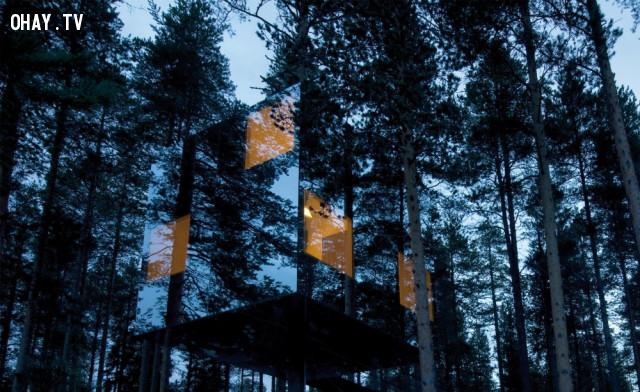 9. Khách sạn The Mirrorcube tại Lapland, Thụy Điển,kiến trúc độc đáo,nhà đẹp,nhà thiết kế độc đáo
