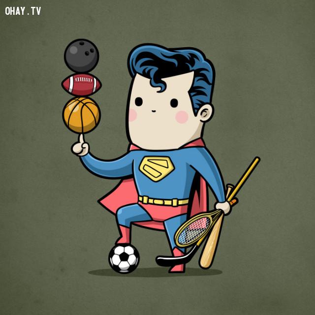 Tất cả các môn - đã gọi là siêu nhân thì môn nào cũng giỏi hết,siêu anh hùng