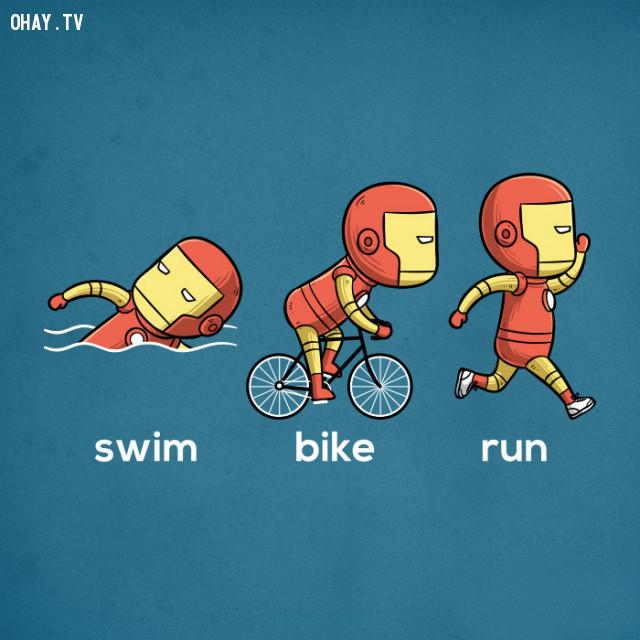 3 môn phối hợp - Iron man,siêu anh hùng