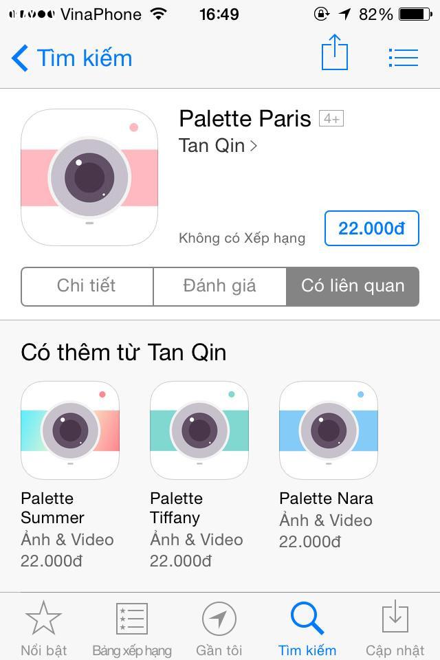 Palette,ứng dụng chỉnh màu cho điện thoại,app chỉnh màu,app chỉnh hình đẹp