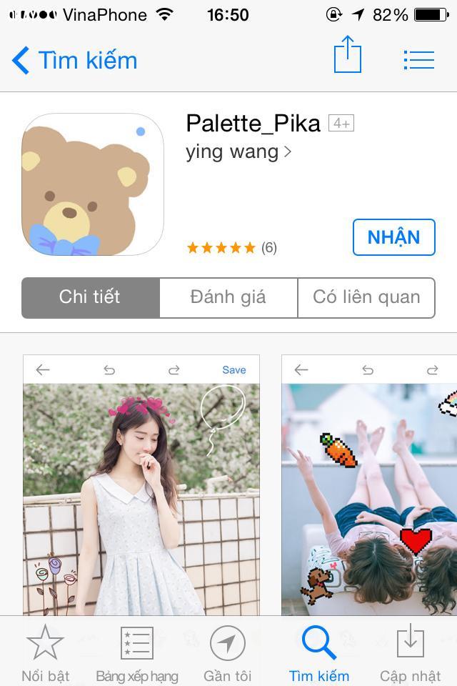 Palette_Pika (IOS),ứng dụng chỉnh màu cho điện thoại,app chỉnh màu,app chỉnh hình đẹp