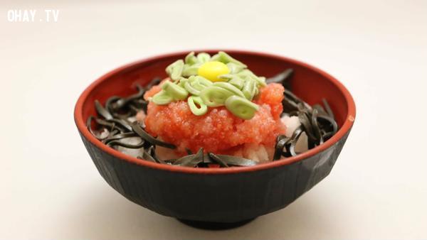 Negitorodon: Cá ngừ béo, hành lá và cơm.,ẩm thực đại chúng,ẩm thực nhật bản,du lịch nhật bản,văn hóa nhật bản