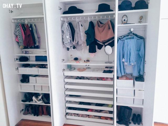 8. Hãy đơn giản hóa tủ quần áo của bạn,sống đơn giản,sống dễ dàng,cách sống tốt