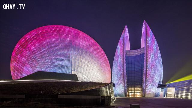 5. Nhà hát Châu Hải, Trung Quốc   ,kiến trúc độc đáo