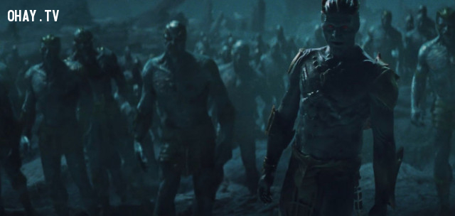9. Các vị thần Aesir vs Người Khổng Lồ Băng Giá ( Thor ),phim marvel