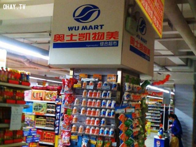 6. Wumart và Walmart,hàng trung quốc,hàng giả,nhái thương hiệu,nhái tên