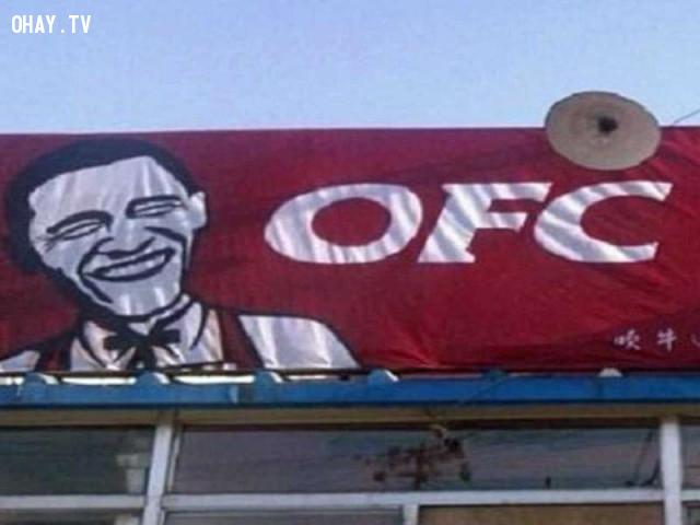 8. Nhà hàng OFC – Obama Fried Chicken (Gà rán Obama),hàng trung quốc,hàng giả,nhái thương hiệu,nhái tên