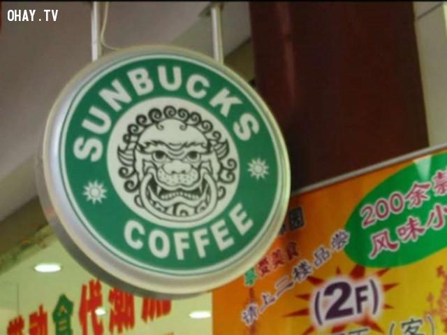 7. Nếu tìm Starbucks khó quá thì hãy ghé thử Sunbucks xem sao.,hàng trung quốc,hàng giả,nhái thương hiệu,nhái tên