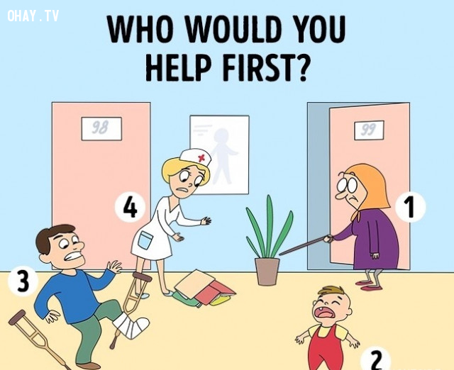 Ai là người mà bạn muốn giúp đỡ đầu tiên?