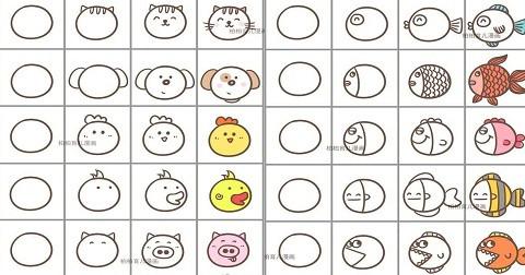Mách bạn cách vẽ 45 loài động vật siêu đơn giản từ hình tròn