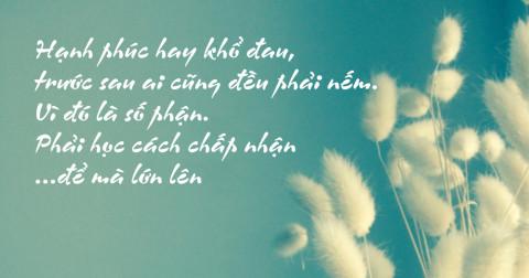 Tâm tĩnh lặng...những câu nói giúp bạn sống an nhiên hơn