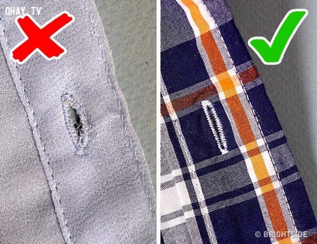 9. Kiểm tra phần khuy áo,mẹo chọn quần áo,mẹo thời trang,mẹo mua sắm