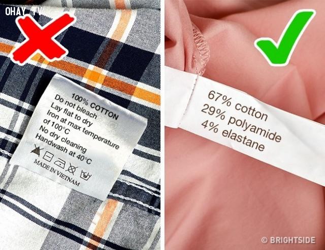7. Chú ý đến nhãn mác và thông tin trên đó,mẹo chọn quần áo,mẹo thời trang,mẹo mua sắm