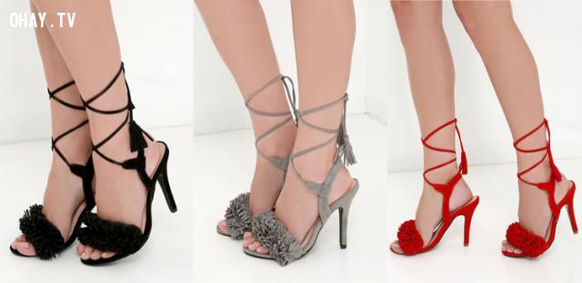 3 - Sandal buộc dây,giày cao gót,giày tăng chiều cao,cô nàng nấm lùn