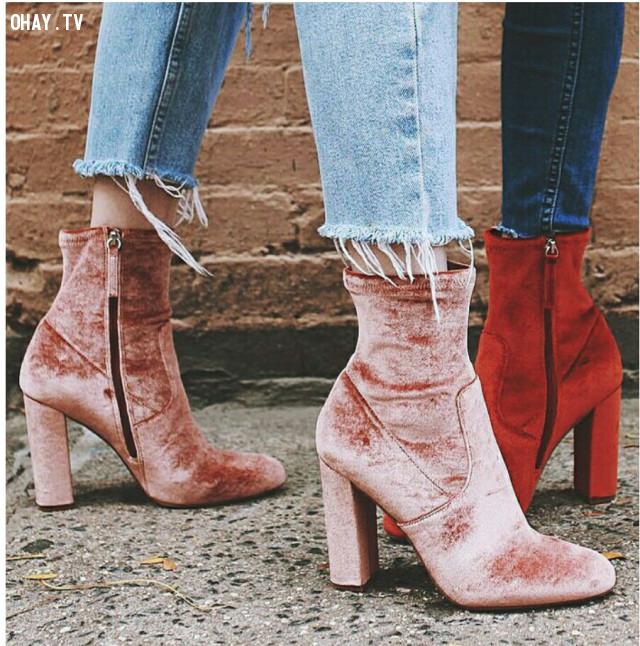 4 - Ankle Boots cao gót,giày cao gót,giày tăng chiều cao,cô nàng nấm lùn