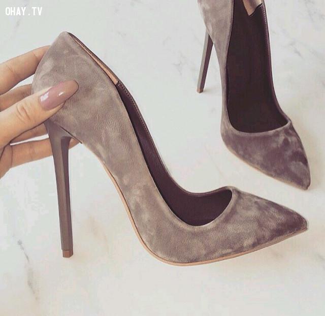 1 - Giày cao gót mũi nhọn,giày cao gót,giày tăng chiều cao,cô nàng nấm lùn