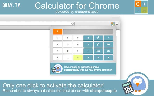 Calculator,extension chrome,trình duyệt chrome,tiện ích hữu dụng