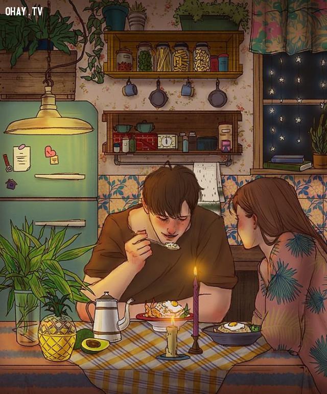 #3 Bữa ăn tối ấm cúng trong ngôi nhà của mình,