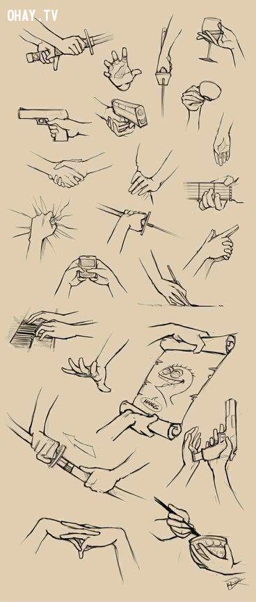 ,cách vẽ bàn tay,cách vẽ tay,học vẽ