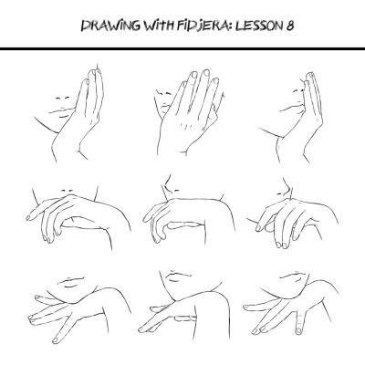 Bước 3, thể hiện cảm xúc,cách vẽ bàn tay,cách vẽ tay,học vẽ