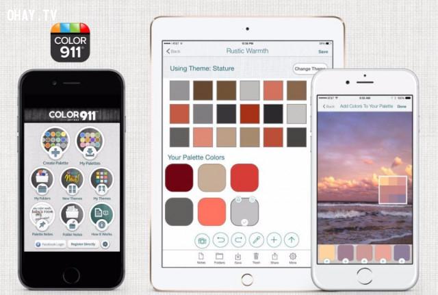 COLOR911 ,ứng dụng hay,ứng dụng trang trí nội thất,thiết kế nội thất,mẹo trang trí nhà cửa