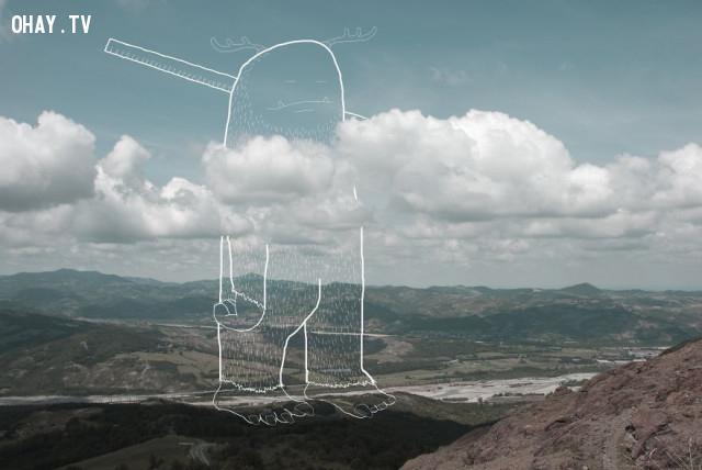 8. Người tạo đường chân trời,ảnh sáng tạo,Giacomo Agnetti