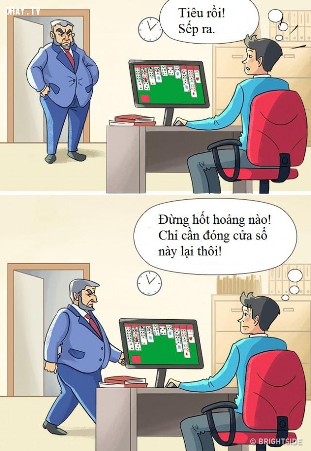 7. Ai mà chưa từng trải qua tình huống này cơ chứ!,dân văn phòng,ảnh minh họa hài hước,cuộc sống văn phòng