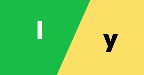 Cách sử dụng I và Y thế nào cho đúng?