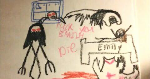 Loạt tranh vẽ 'kinh dị' của con nít khiến người lớn phải khiếp sợ