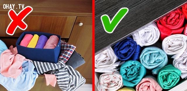 3. Sắp xếp ngăn tủ gọn gàng,sai lầm thường mắc,việc thường làm sai