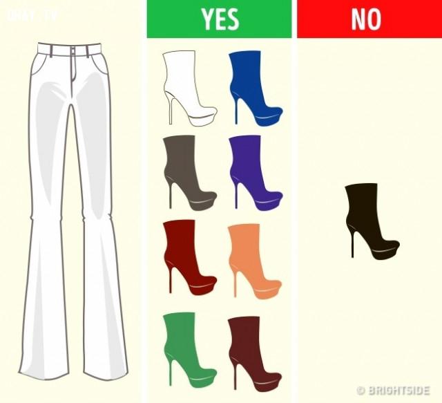 Quần trắng,cách phối giày,cách phối đồ,mẹo thời trang