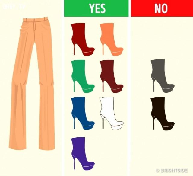 Quần màu nâu sáng,cách phối giày,cách phối đồ,mẹo thời trang