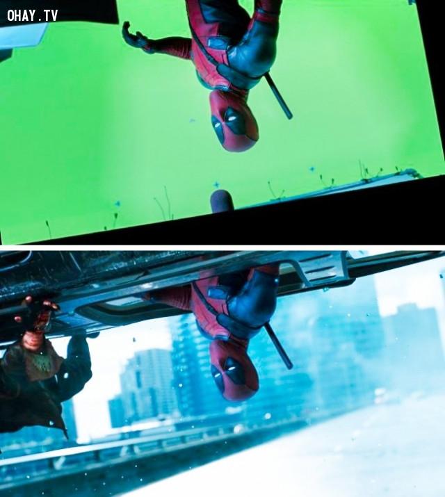 Một số cảnh quay trong phim Deadpool,kỹ xảo điện ảnh,xử lý hậu kỳ,công nghệ làm phim