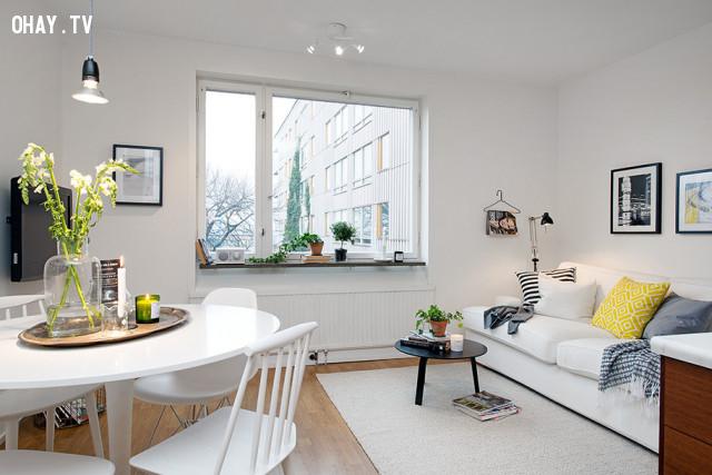 1. Chọn nội thất có tông màu sáng,lựa chọn nội thất,sắp xếp nội thất,trang trí nhà cửa