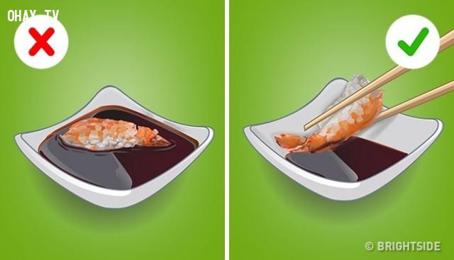 Sushi,cách ăn đúng,thưởng thức đồ ăn,cách ăn sushi
