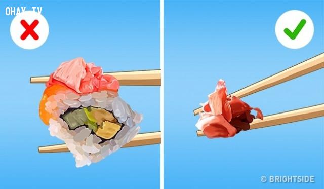 Gừng,cách ăn đúng,thưởng thức đồ ăn,cách ăn sushi