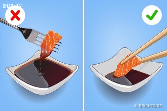 Sashimi,cách ăn đúng,thưởng thức đồ ăn,cách ăn sushi
